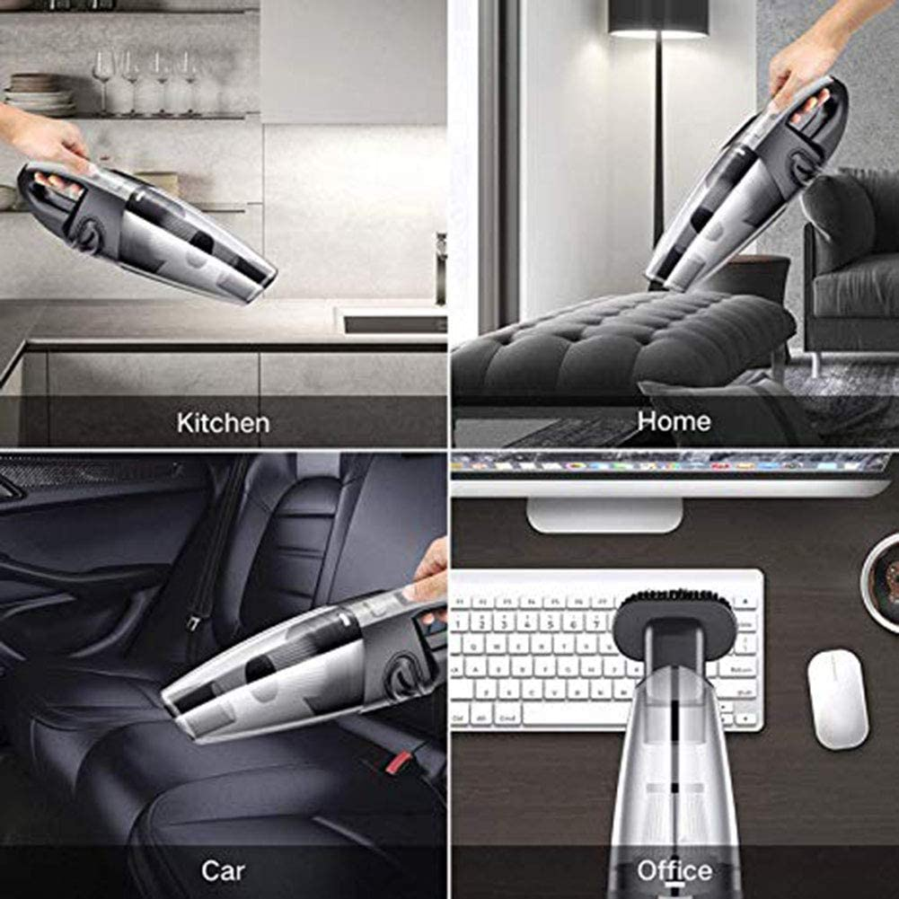 12V 120W Cordless Wireless HandHeld Vacuum Cleaner Wet Dry For Home Car Portable