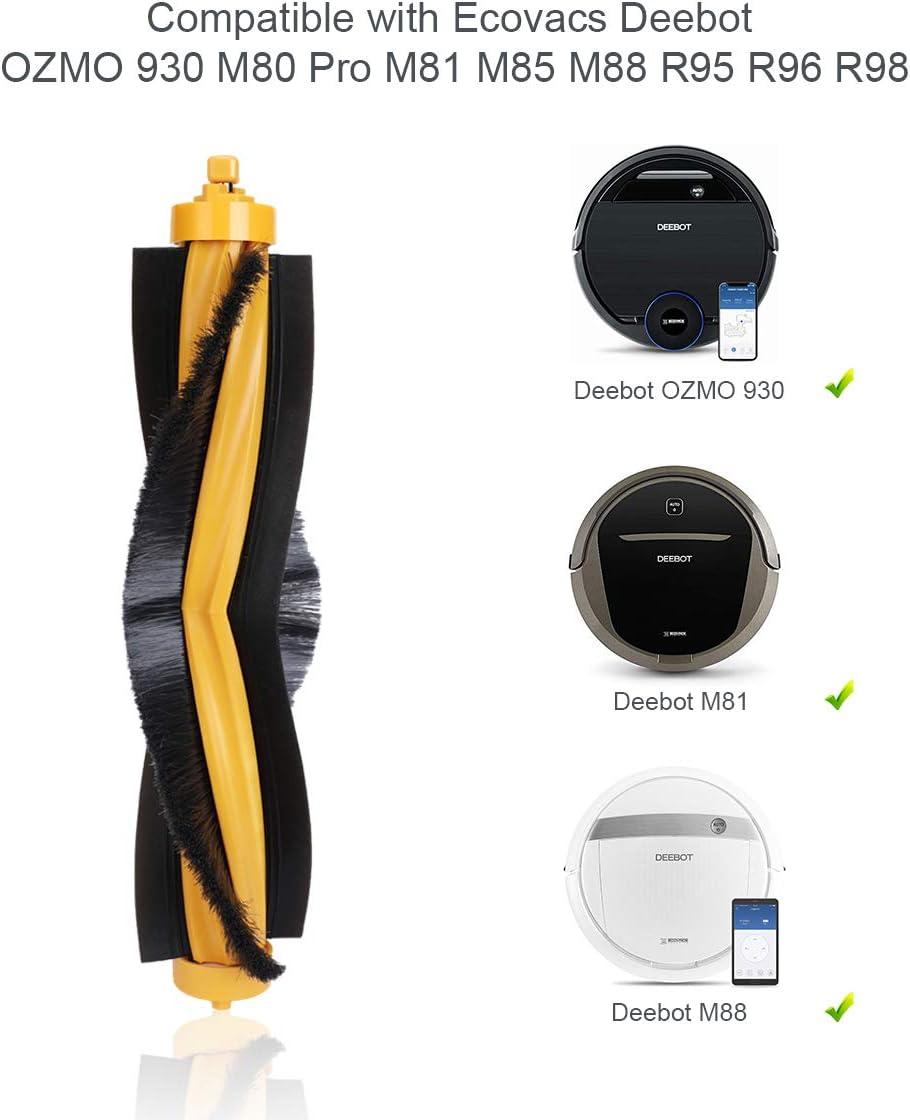Amoy Ersatzb/ürste kompatibel Ecovacs Deebot 900 901 M80 Pro M81 M85 M88 R95 R96 R98 OZMO 930 Saugroboter