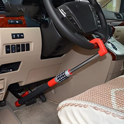 Car Anti Theft >> Amazon Com Steering Wheel Lock Car Telescopic Car Anti