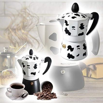 TrAdE Shop Traesio Cafetera 3 Tazas Moka Vaca Express Mukka Caffe ...