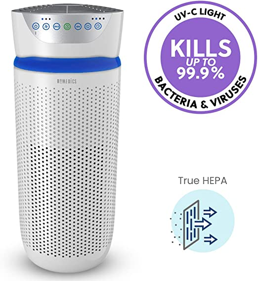 HoMedics TotalClean Tower purificador de aire – grande 5 en 1 ...