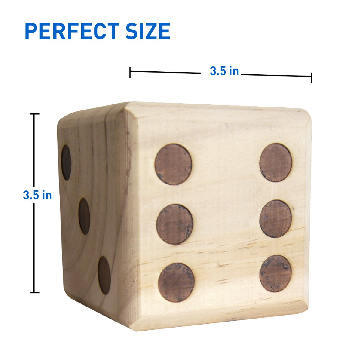 Easygoproducts Large Dice Game Giant Wooden Yard Dice Set Dice