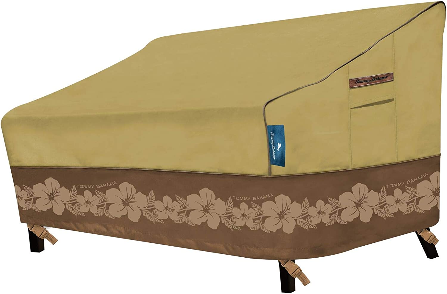 Tommy Bahama 29201 Medium 2-3 Cushion Patio Sofa Cover, Tan/Brown