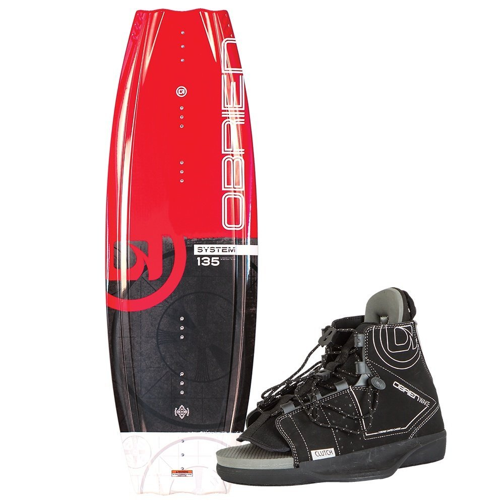 O'Brien System Wakeboard with Clutch 5-8 Bindings, 135cm