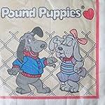 Pound Puppies Vintage 1986 Lunch Napkins 16ct