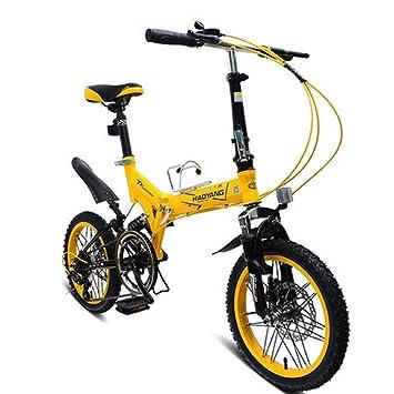 LETFF Aleación De Aluminio Plegable De La Bicicleta del Adulto 16 Pulgadas, Absorción De Choque