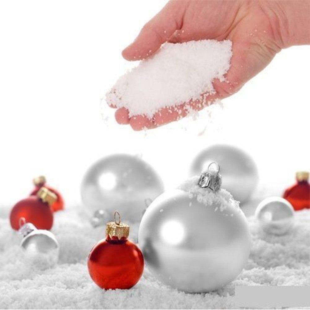 Datingday 10 Pcs 9g SAP Magic Instant Fake Fluffy Snow Super Absorbant Christmas Wedding Decor Happy^Buy
