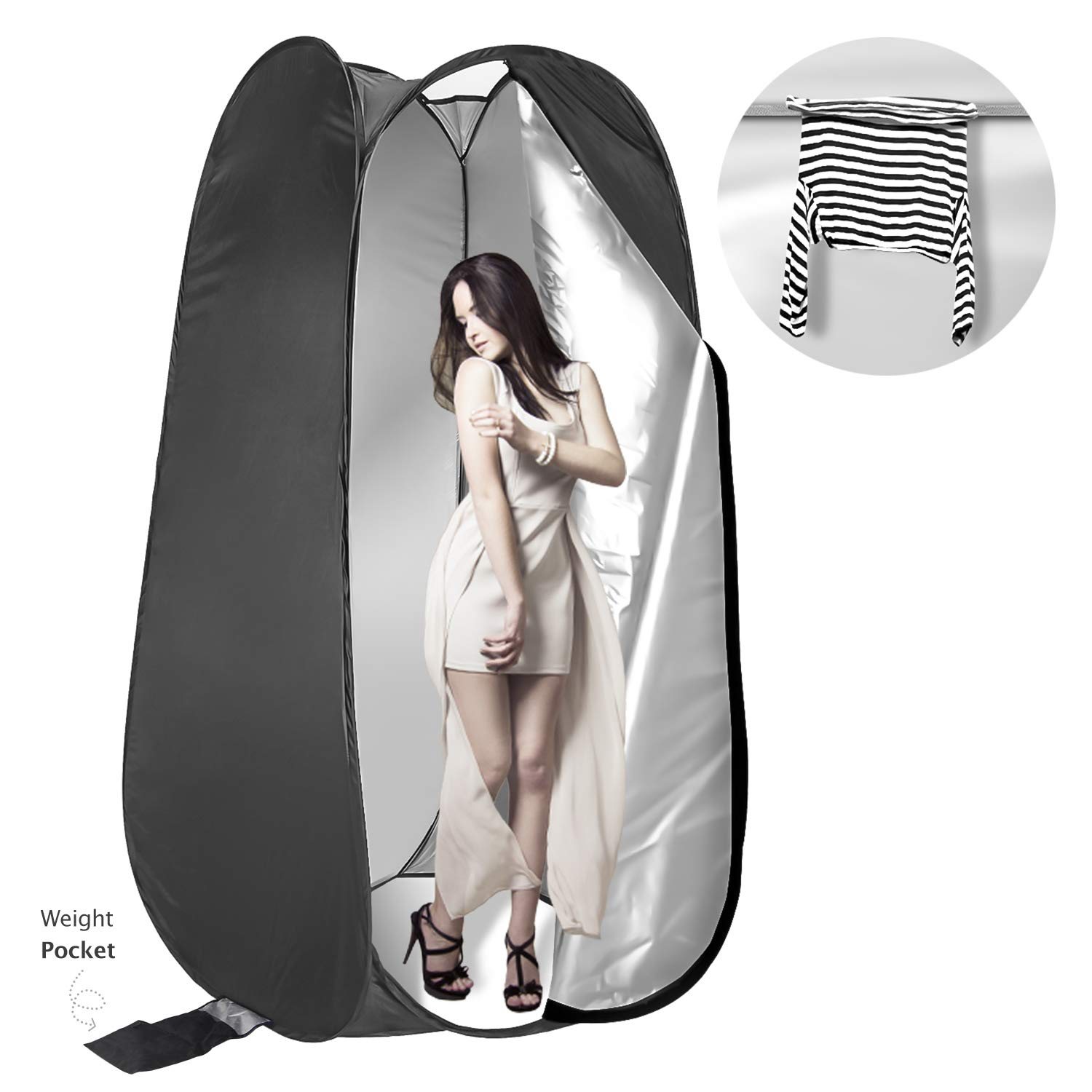 LS Photography 75'' Portable Indoor/Outdoor Photo Studio, Camping, and Beach Pop up Changing Dressing Tent, LGG751
