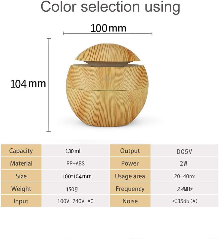 Humidificador de Aire Mini humidificador de Aire Difusor de Aroma el/éctrico Sistema de humidificaci/ón Premium Funci/ón de Carga USB Super silencioso Port/átil con Luces LED de 7 Colores