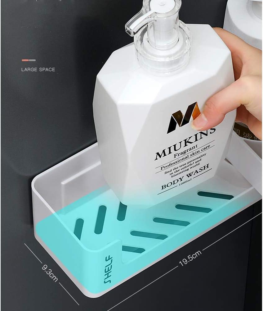 KXYF Shower Shelf,Shower Basket Right angle,Corner Shelf,With Hook,210 degree rotation -Without Drilling Suction Self Adhesive-Bathroom Soap Kitchen Organiser Shelf,White Orange