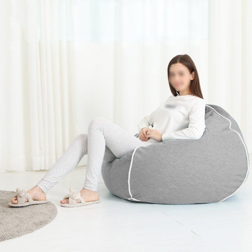 Canapé Lounger Bean Bag Chambre Salon Chaise Unique Lavable Lavable ( Couleur : Gris clair )
