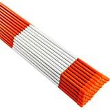 "Rods Stakes Guides 200PK 48 Heavy Duty 5//16/"" Diameter Hi Visibility Safety Orange Driveway Markers w//Reflective Tape"