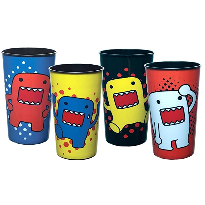 amazon com domo circle poses four pack plastic party cup set