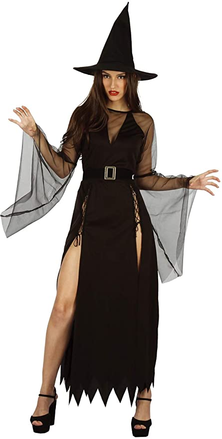 9090ff9a191a60 U LOOK UGLY TODAY Halloween Kostüm Damen Hexe Sexy Cosplay Karneval  Abendkleid Spitze Kleid Verkleidungsparty mit Hut- S M - 42  Amazon.de   Spielzeug