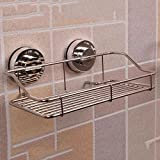 DIDIDD Shelf-Extremely Firm Shower Shelf Power Vacuum Sucker Bathroom Bathroom Kitchen Seamless Shelf Bathroom Angle Free Wall Hanger, Two Colors Are Available Ensuring Quality,B