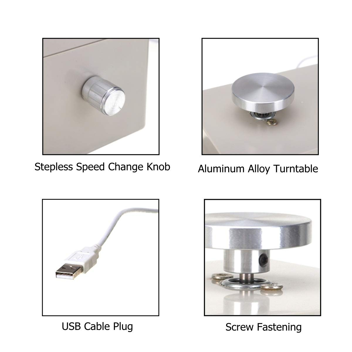 soring swallow 1PCS, Mini USB Electric Pottery Wheel Machine 5V USB 45mm 2000rpm Ceramic Clay Art Craft Work DIY Tool with 5pcs Wood Pottery Tools (Gift)