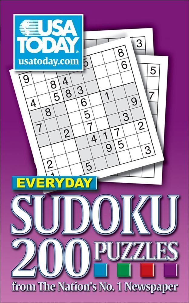 picture relating to Usa Today Crossword Printable named United states of america Presently Day by day Sudoku: 200 Puzzles towards The Countries No