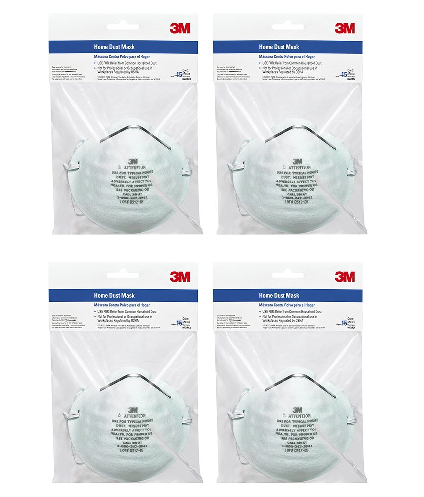 3M Home ZCPha Dust Mask, 15 Count (4 Pack) by 3M