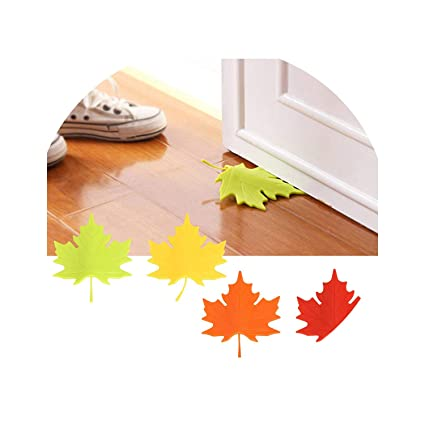 Maple Autumn Leaf Style Home Decor Finger Safety Door Stop Stopper Doorstop Back To Search Resultshome Improvement Hardware
