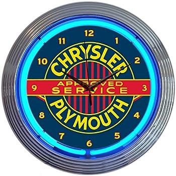 Amazon Com Neonetics Mopar Vintage Neon Wall Clock 15