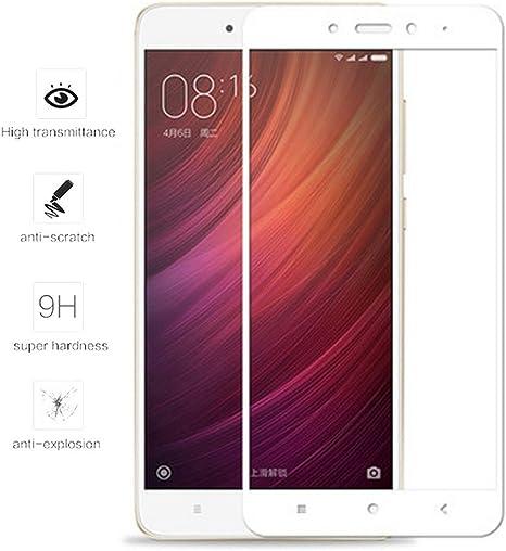 Tumundosmartphone Protector Cristal Templado Frontal Completo Blanco para XIAOMI REDMI Note 4 / Note 4 Pro Vidrio (No Compatible con Xiaomi Redmi Note 4 versión Global/Note 4X): Amazon.es: Electrónica