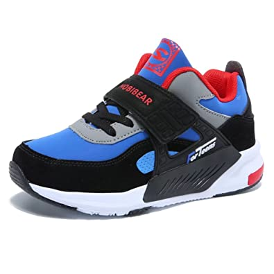 GUBARUN Running Shoes for Kids Outdoor Hiking Athletic Boys  Sneakers-Blue Black bfffe8796