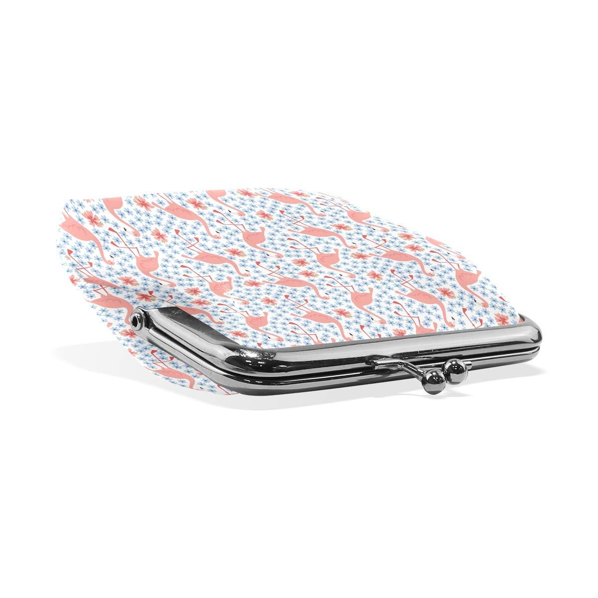 Clutch Womens Tropical Jungle FlamingoesCoin Purse Wallet Handbag