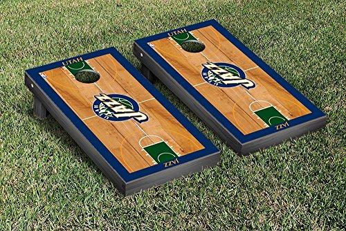 Utah Jazz NBA Basketball Regulation Cornhole Game Set Basketball Court Version by Victory Tailgate