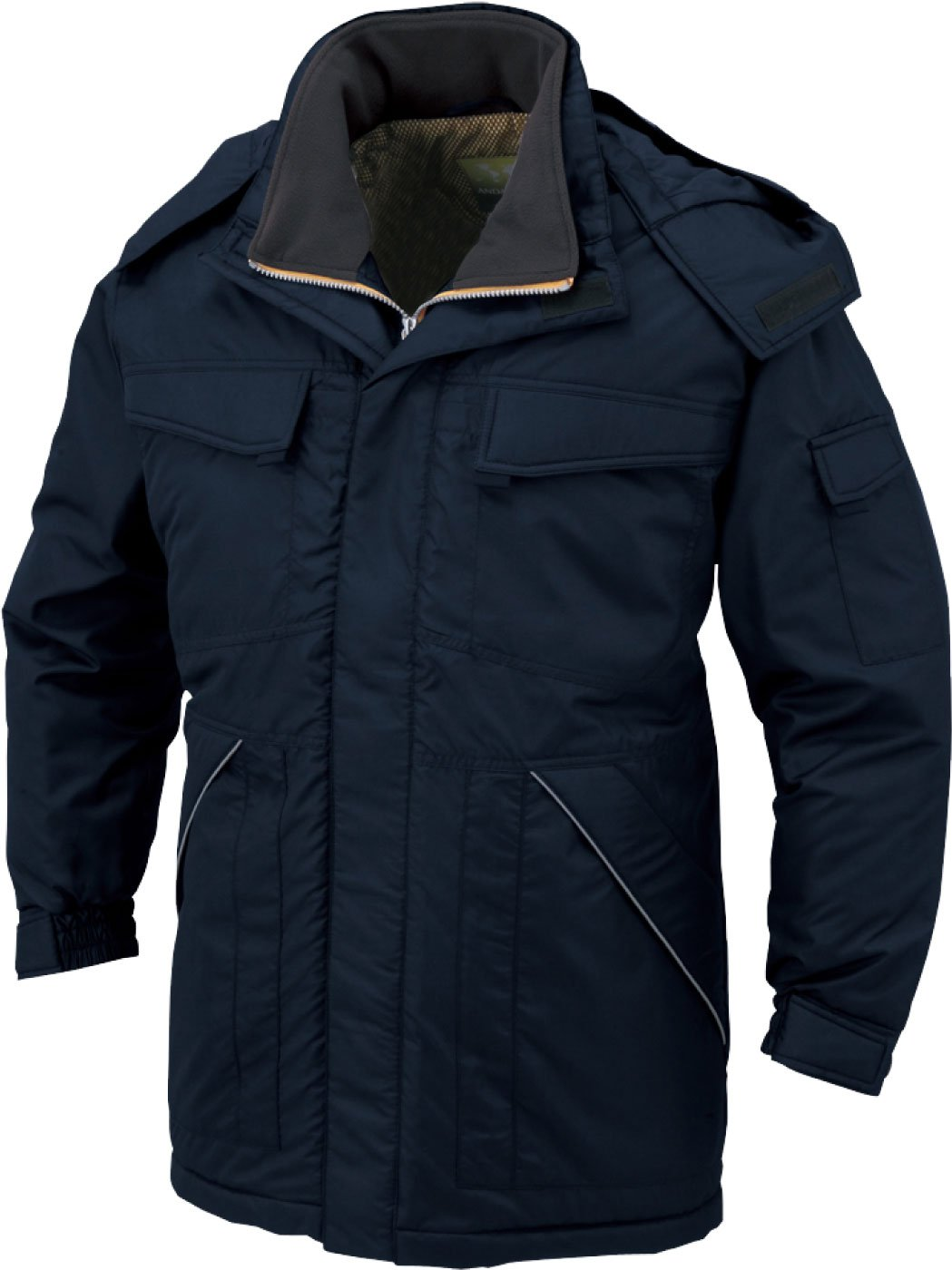 コーコス(CO-COS) 防寒コート 防寒ジャンパー ワークウェア 撥水加工 cc-a12366 B01M65GIMP 6L|ネイビー ネイビー 6L