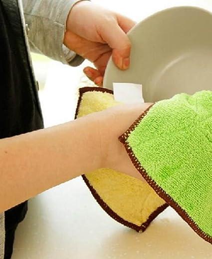 Moine Tang Cocina 8pcs Toallas Limpias Sin Pelusa Antiadherentes Toallas De Doble Absorbentes De Lavado De