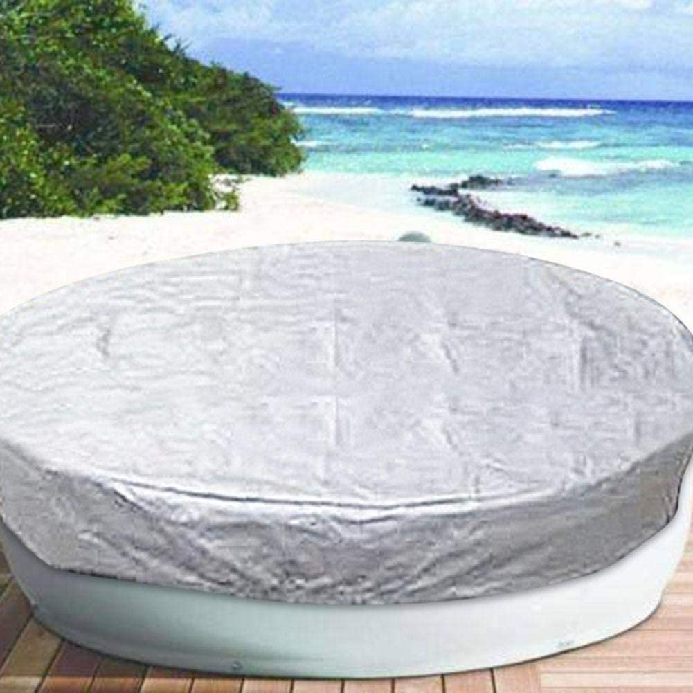 dianhai306 Round Hot Tub Cover Waterproof 100 UV /& Weather Resistant Round Spa Cover with Air Pocket and Drawstring for Snug Fit