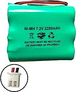2GIG-BATT1 228844 6MR2000AAY4Z 7.2v 2200mAh Ni-MH Battery Pack for Alarm System 6MR1600AAY4Z Corun GoControl