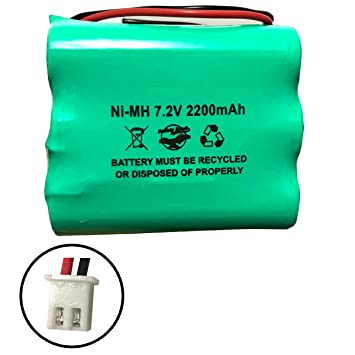 Amazon.com: 2GIG-BATT1 228844 6MR2000AAY4Z 7,2 V 2200 mAh Ni ...