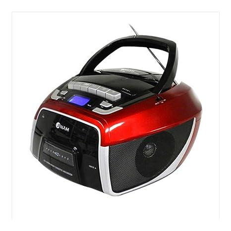 Amazon.com: Anam estéreo portátil reproductor de CD Grabador ...