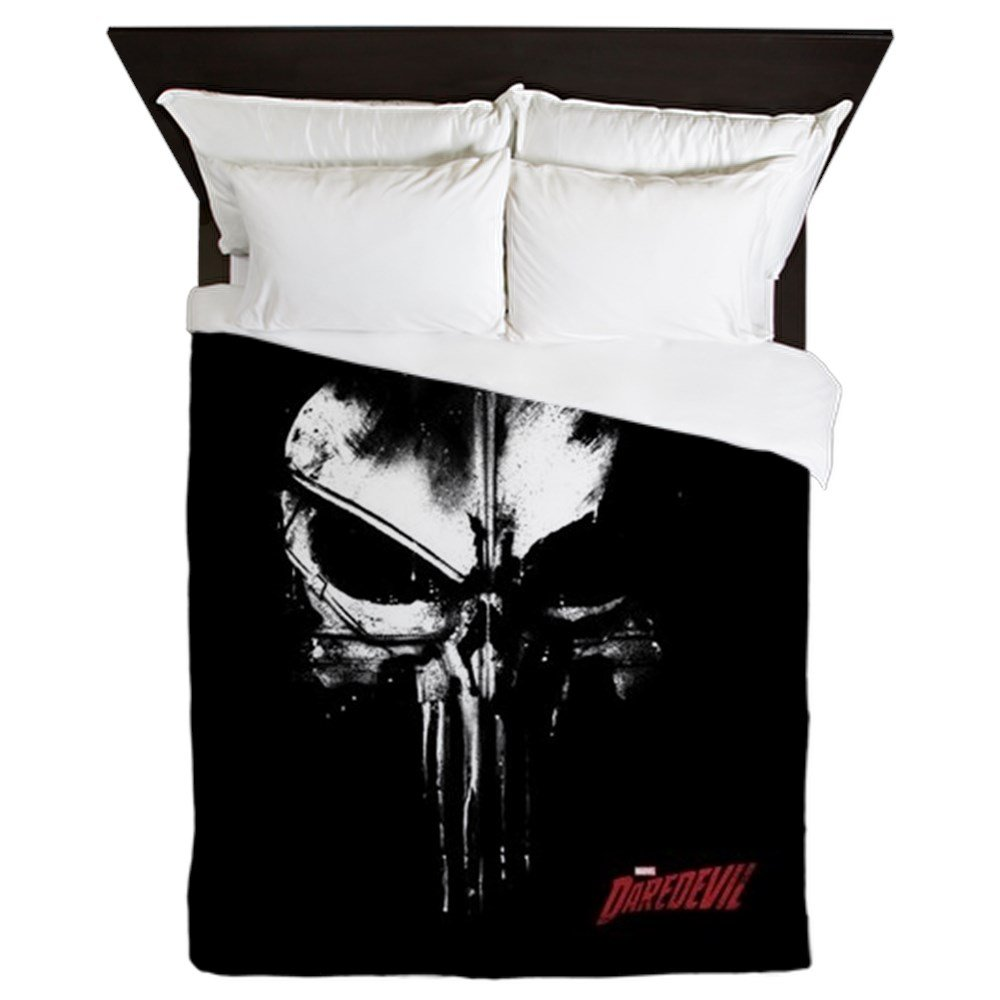 CafePress - Netflix Punisher Skull - Queen Duvet Cover, Printed Comforter Cover, Unique Bedding, Microfiber