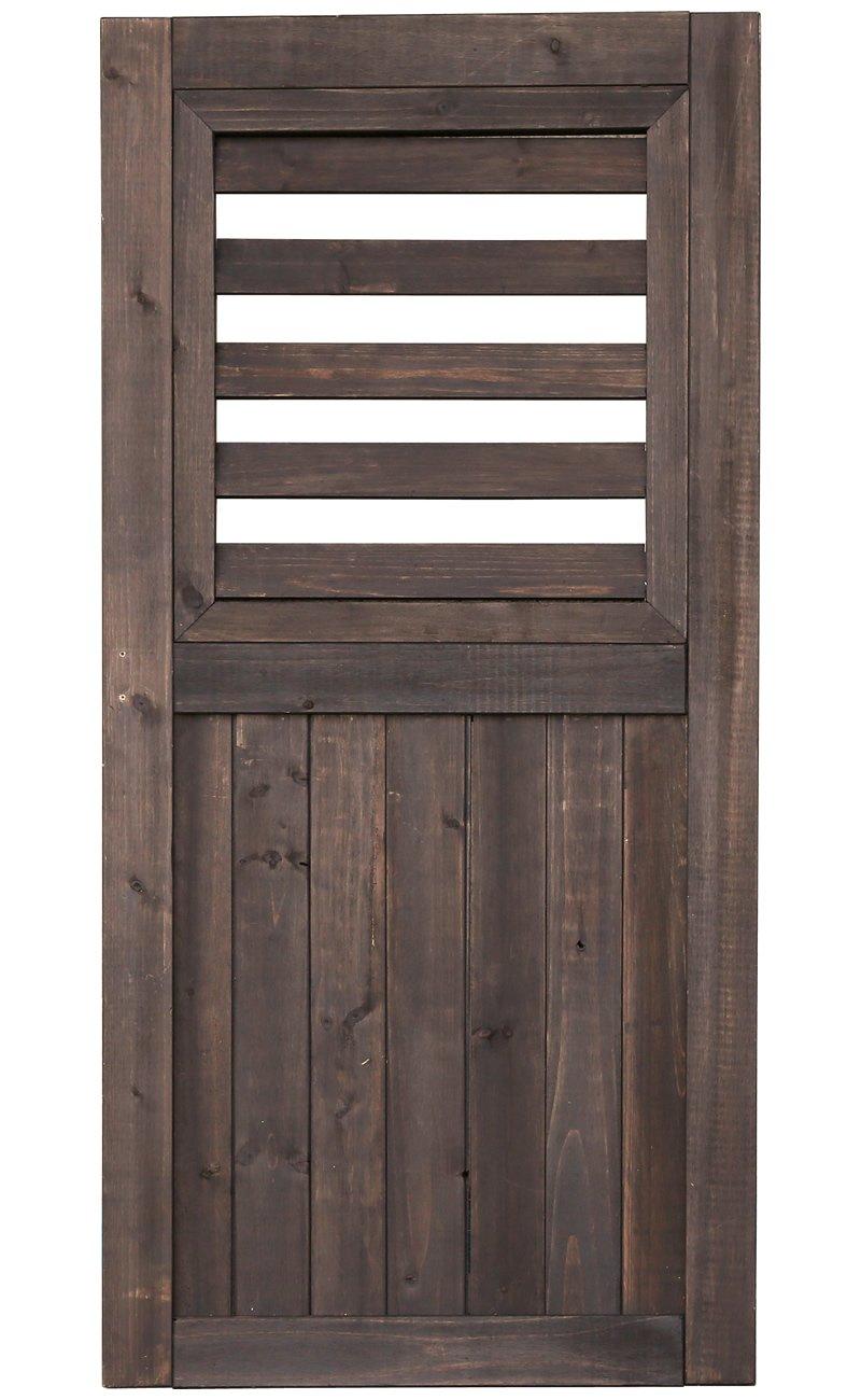 ゲートやハンギングに シェッドファサードヴォレー(閂錠/蝶番付) 高さ115cm ダークブラウン SFV-550DBR B00CY5IBJQ  ブラウン
