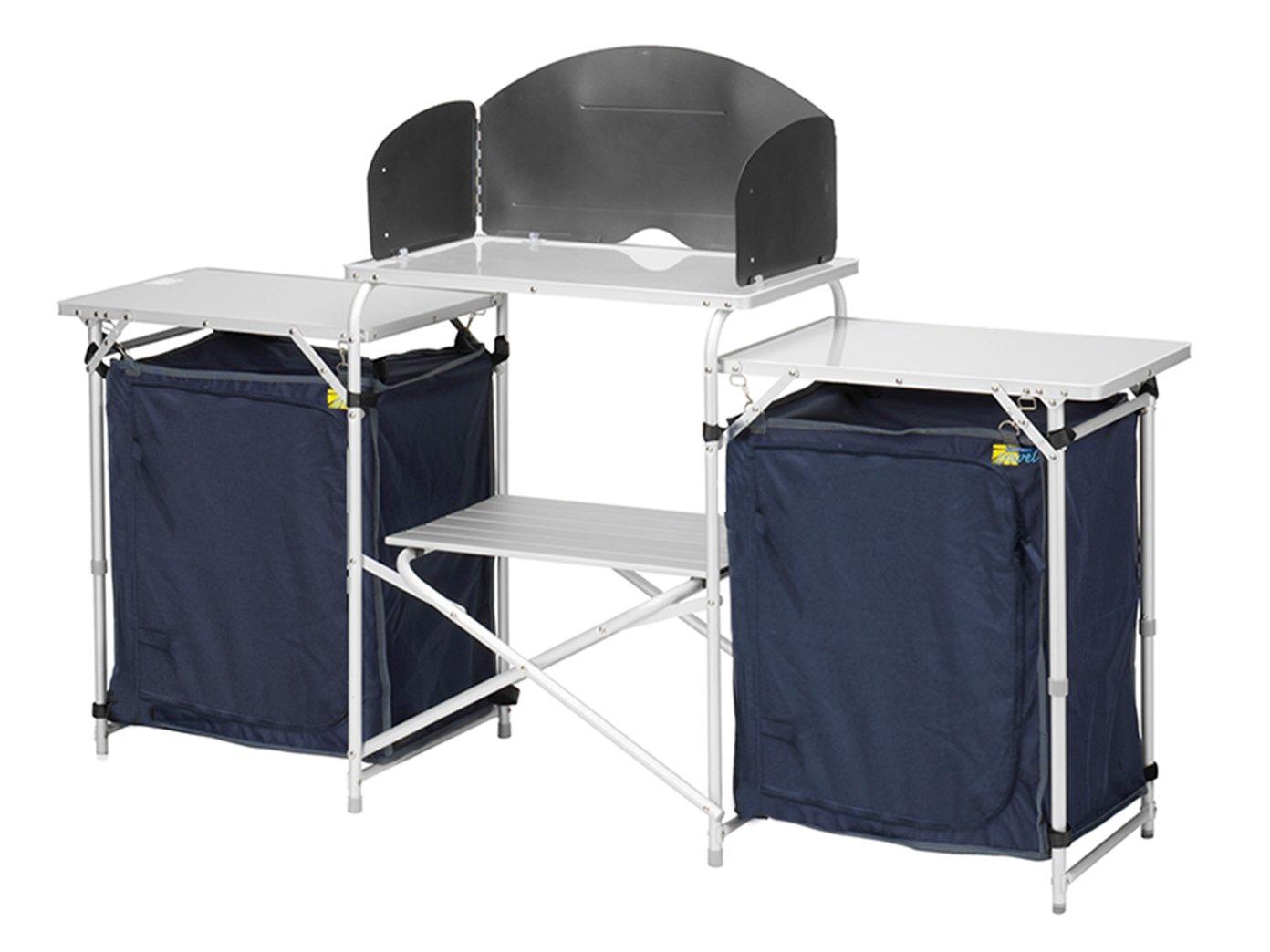 XXL Campingküche & Schrank faltbar im Set - zum OUTDOOR KOCHEN & WOHNEN - Küchenschrank Kleiderschrank