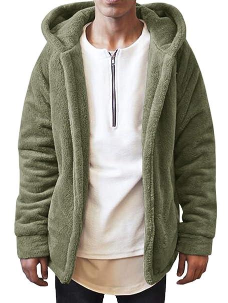 Amazon.com: LAICIGO Chaqueta de forro polar con capucha para ...