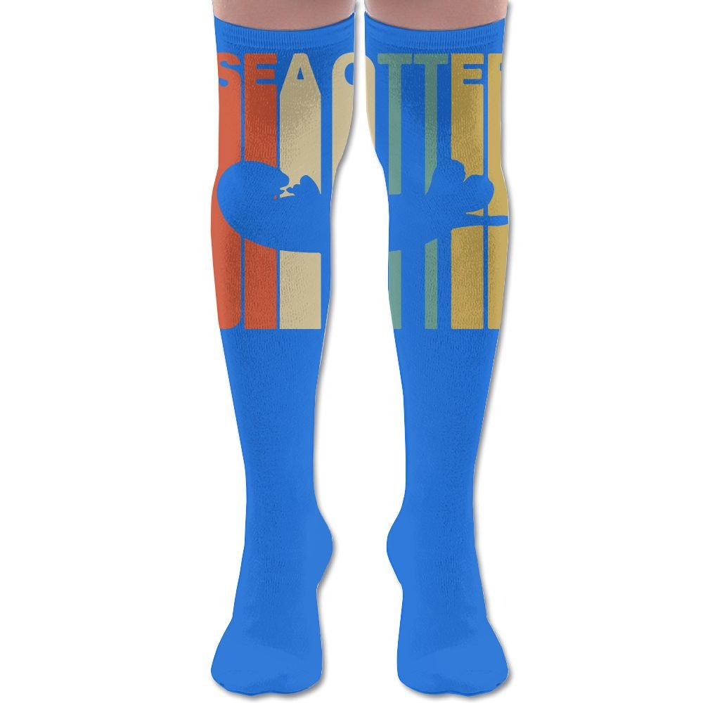 YISHOW Vintage Style Sea Otter Women's Fashion Over The Knee High Socks (60cm)