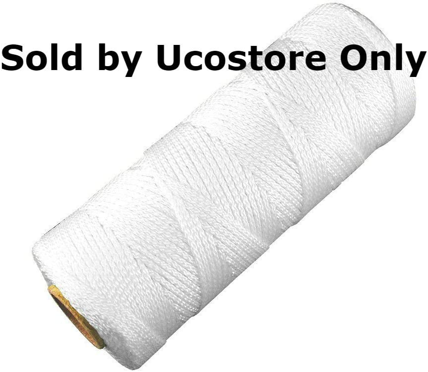 No.18 By 225-feet Twisted Masonry String Line 1//4 Lb CL-1030W Sold by Ucostore Only White