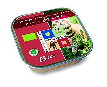 Aniwell – Húmedo comida para gatos Bio – tuttacarne Manzo orgánico, 17 Bandejas de 100