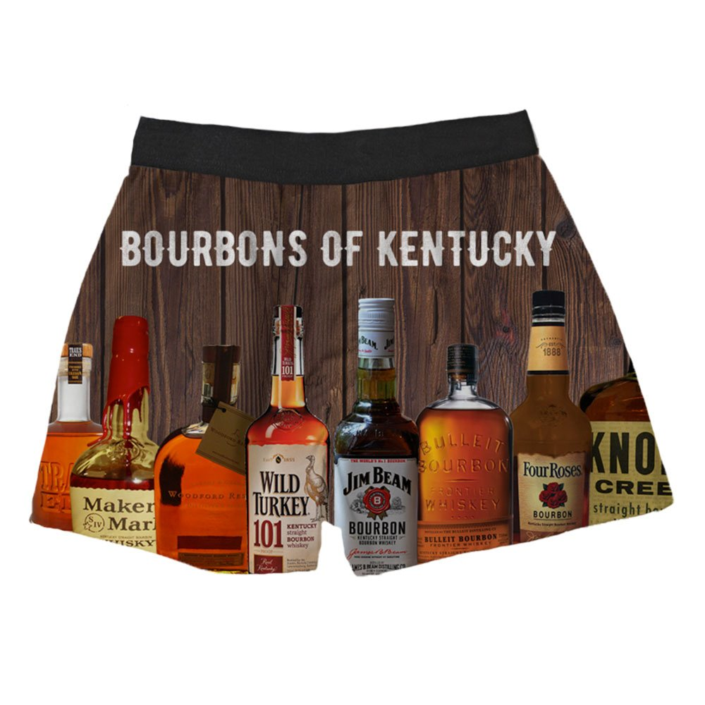 Brief Insanity Bourbons of Kentucky Silky Funny Boxer Shorts Gifts for Men by Brief Insanity (Image #2)