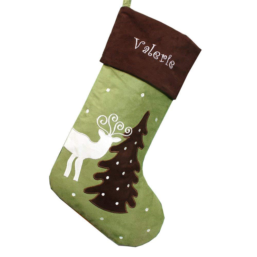 1bcb8403e Amazon.com  GiftsForYouNow Holiday Reindeer Personalized Stocking ...