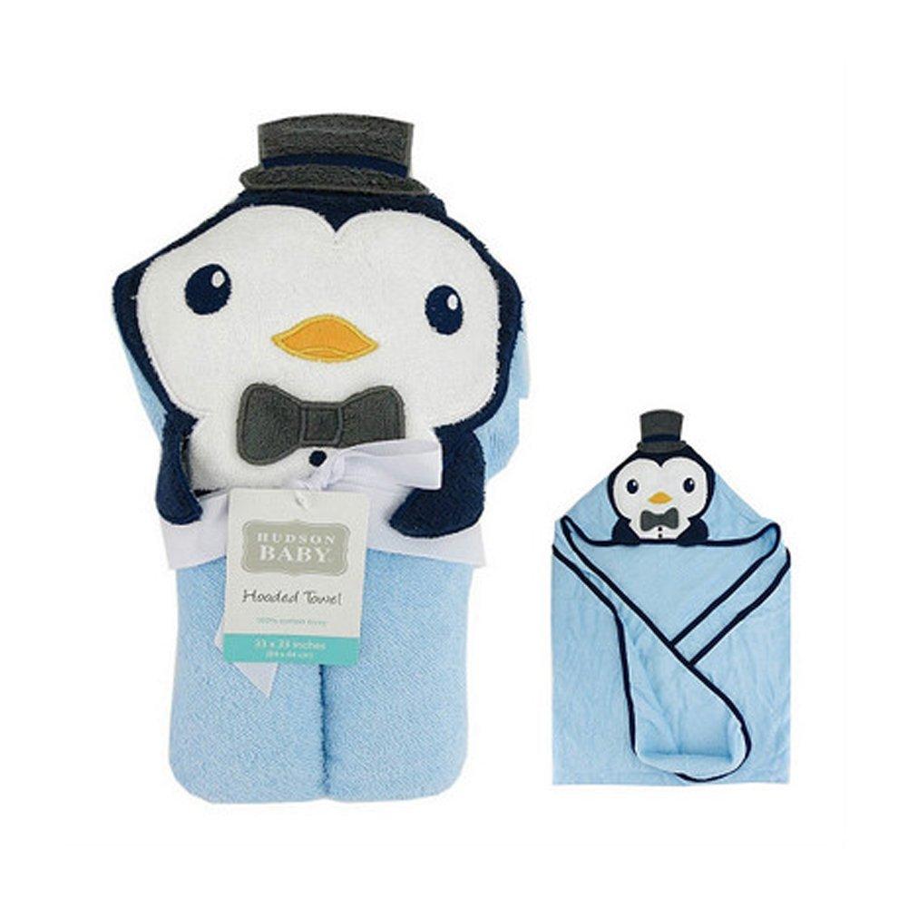 pinguino Newin Star Toalla de beb/é,Toalla con capucha para ni/ños,Albornoces Infantiles Animado de algod/ón Lindo para ba/ño y nataci/ón de beb/é y reci/én nacido