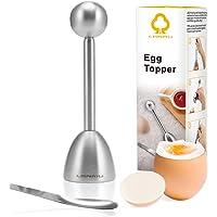 Egg Topper,LANMU Egg Cutter,Egg Cracker for Hard & Soft Boiled Eggs,Egg Cutter Topper with Spoon,Stainless Steel Kitchen…