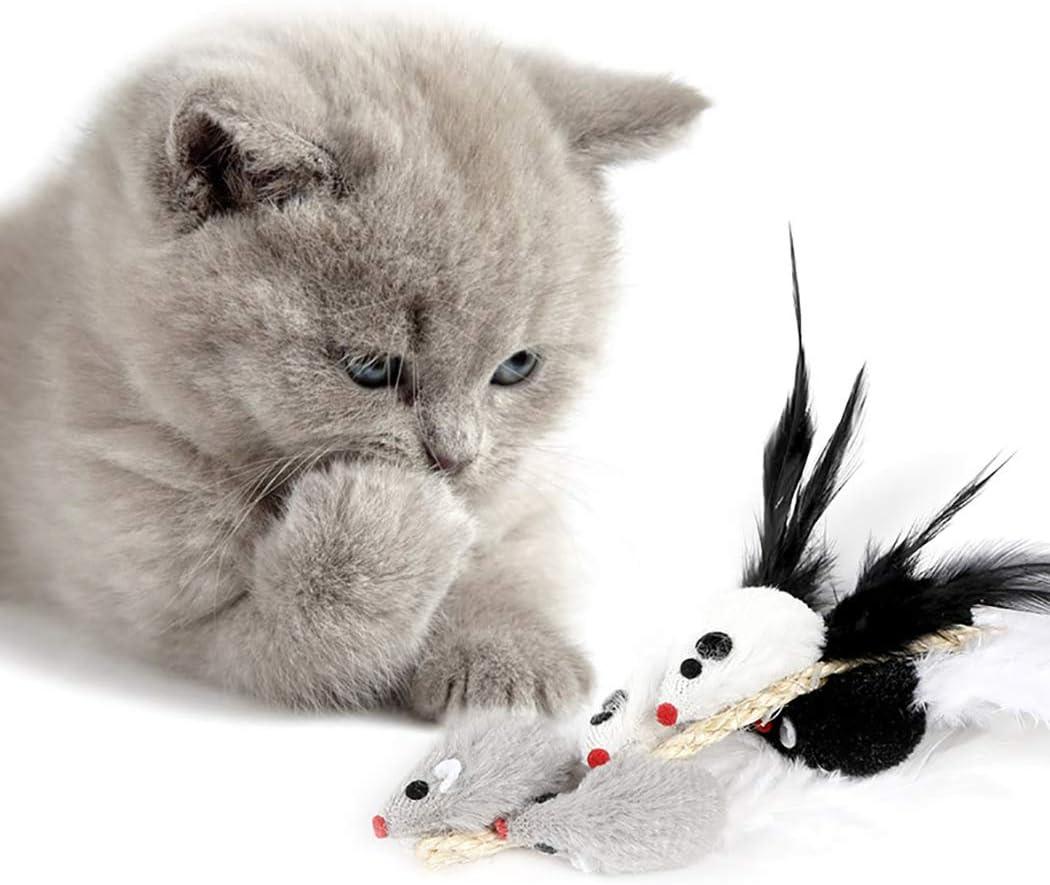 Legendog Gato Ratones Juguete Gato Simulado Sonido Juguete Gato Juguete Interactivo Gato Juguete Masticable para Gatito: Amazon.es: Productos para mascotas