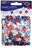 Fanci-Fetti Stars (red, silver, blue) Party Accessory  (1 count) (1 Oz/Pkg)