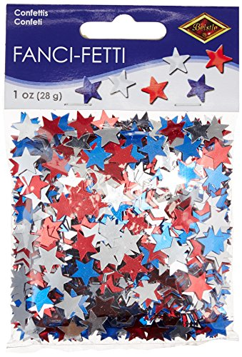 ed, silver, blue) Party Accessory  (1 count) (1 Oz/Pkg) (Patriotic Party Decorations)