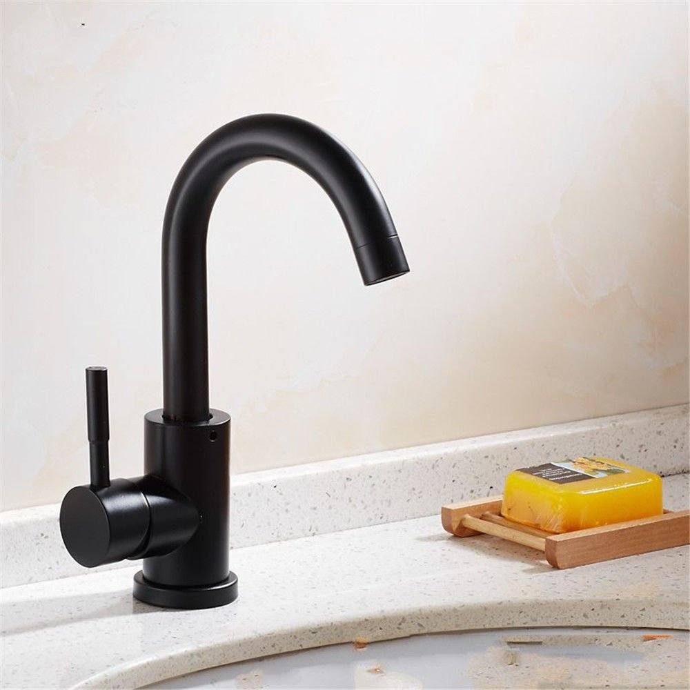 B NewBorn Faucet Kitchen Or Bathroom Sink Mixer Tap The Sink Cold Water Water Tap Dish Washing Basin Sink Water Tap Stainless Steel Swivel Water Tap B