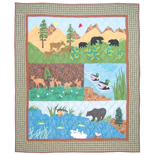 Patch Magic 50-Inch by 60-Inch Natures Splendor Throw